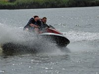 Jet skiing at high speeds