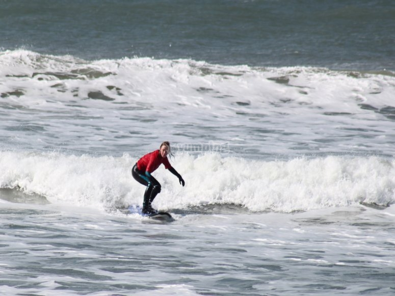 Surfing in West Wales