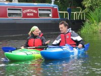 Paddling on the River Stort in Kayaks