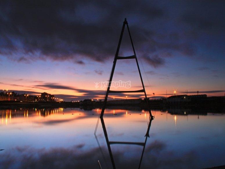 Sunset at Hove Lagoon