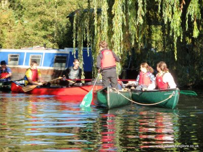Paddling on the River Stort