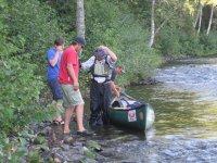 Break at the canoe