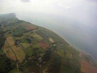 paragliding toward blackgang