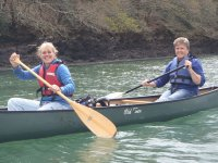 Canoeing on the river Fal