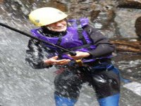 Canyoning  Abseiling down a waterfall