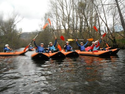 Canoerafting a canyon in Cantabria