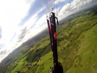 first person view while paragliding