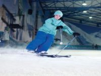 A confident skier