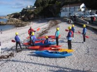 Setting off on a kayaking expedition
