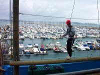 High Ropes challenge right on the harbour