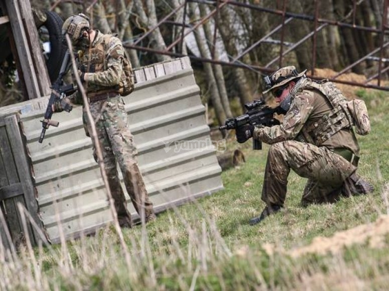 Airsoft is a great activity for groups