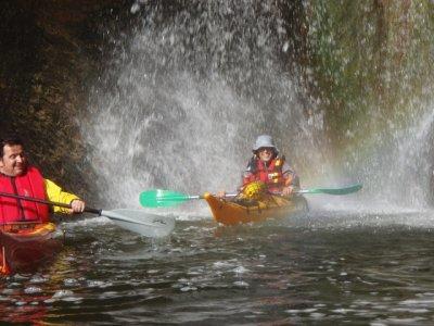 Kayaking for kids in Sau Reservoir