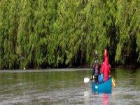 Open deck canoes
