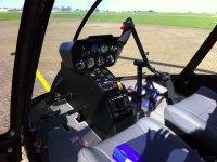 cockpit of R66 by Tim Gilbert