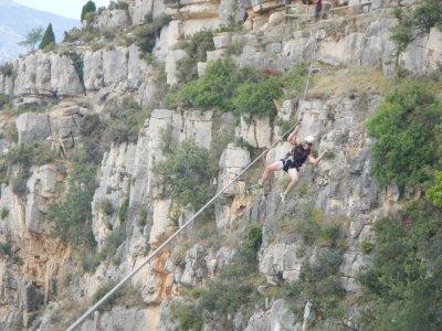 656 feet zip line in Castellón