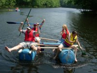 Get out on the water with this unique Raft Building experience
