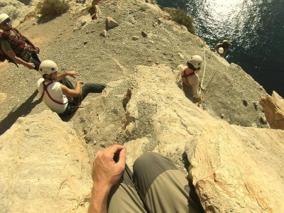 Initiaiton to rock climbing in La Azohía 3 hours