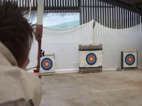 Indoor archery practice