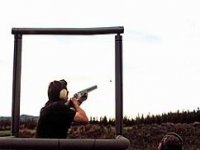 Clay pigeon shooting in the Lake District
