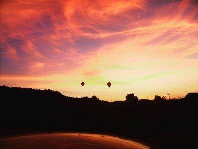 Balloon flight Majorca sunset with photos & cava