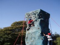 The incredible climbing wall