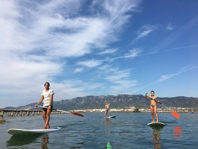 Paddle surf class initiation, Delta del Ebro