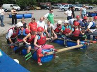 Raft building is about teamwork