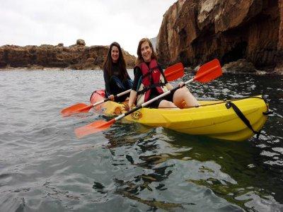 Two-seater kayak rental in Denia, 1 hour