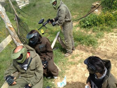 Paintball in Graus with 300 paintballs