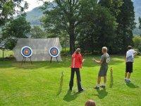 Enjoy archery outdoors