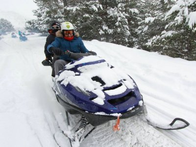 Snowmobile Route Partacua Valley 1hour