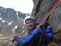 Multipitch climbing in the Cairngorms