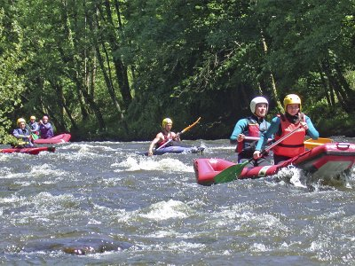 2h introduction canoe-raft in Cabriel River