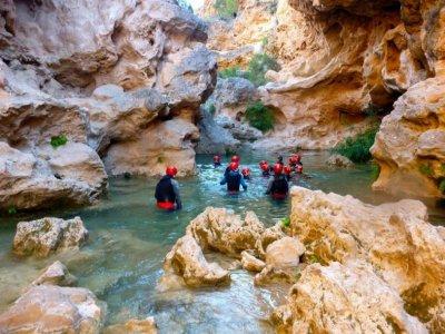 2h canyoning in Las Chorreras canyon