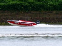 Powerboating on the River Mersey.