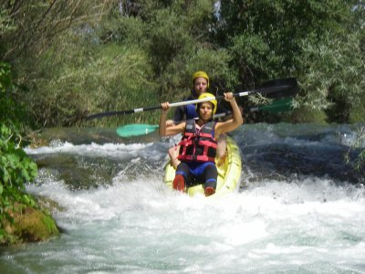 Whitewaters on Kayak, Alto Gualdiela, 1/2 day