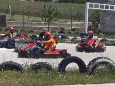 Kids karting 12 mins