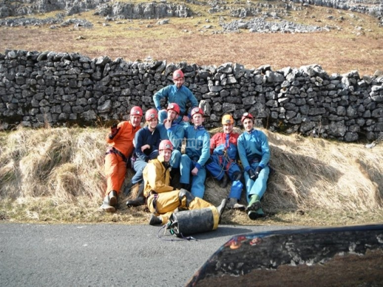 Caving is a great group activity