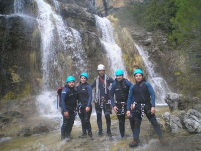 Canyoning in the Dehesa stream, level III