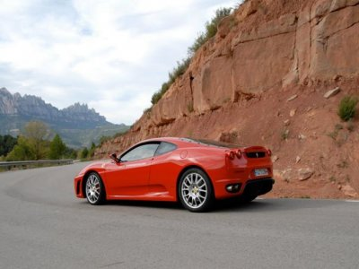 Driving Ferrari F430 Barcelona road, 23000 feet