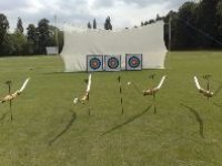 The mobile archery targets