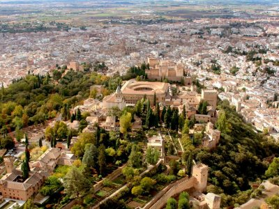 40 min helicopter tour over La Alhambra