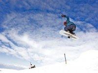 Exhilarating snowboarding