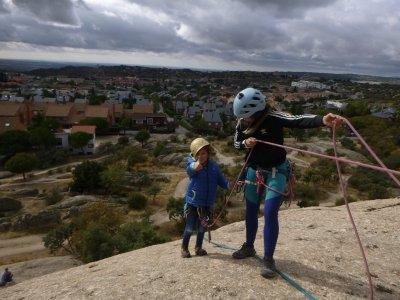 Climbing course for children La Pedriza 4 hours
