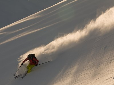 Private ski lessons out of the track