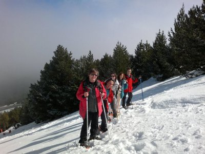 1-day Snow racket trip in the Pyrenees