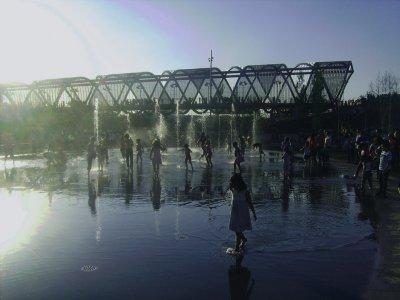 Nordic walking baptism in Madrid Río 2 hours
