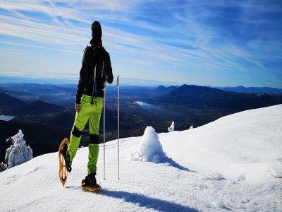 Snowshoeing route in Puerto Navacerrada 4 hours