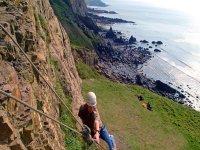 Coastal rock climbing