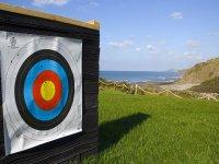 An archery target